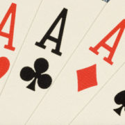 Photograph of 4 ace playing cards