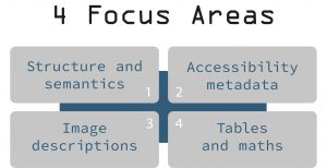 Table showing the 4 Focus Areas as described in the text above