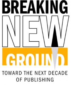 Logo for book summit reading - Breaking New Ground, Toward the next decade of publishing