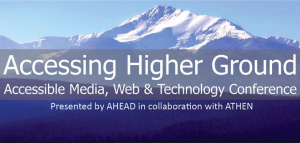 AHG Conference banner featuring conference information against a backdrop of a snow covered mountain