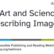 The Art and Science of Describing Images opening slide