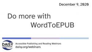 Do more with WordToEPUB opening slide