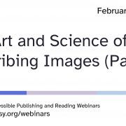 Art of Science of Describing Images part 3 title slide