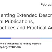 Implementing Extended Descriptions webinar title slide