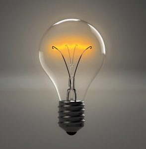Image of a lightbulb switched on